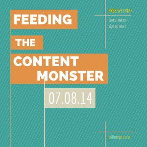 Learn how to feed the content monster now